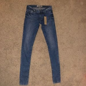 Extra long skinny jeans
